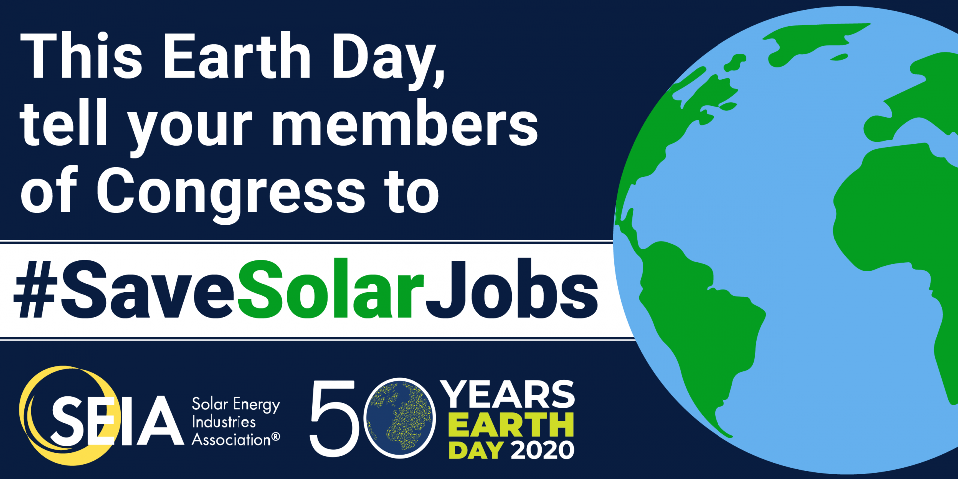 This earth day, save solar jobs
