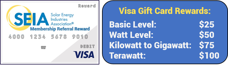 SEIA Gift Card - Rewards by Level