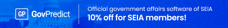 GovPredict ad, SEIA members get 10% off